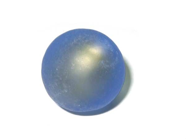 Glasperle mattierte Goldfoilperle 18 mm blau