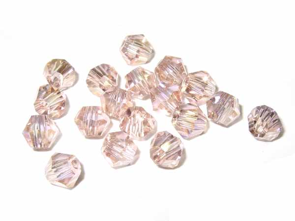 50 Kristallschliffperlen 4 mm light rose AB