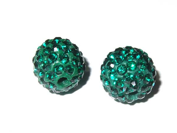 Fimo Strassperle 10 mm emerald