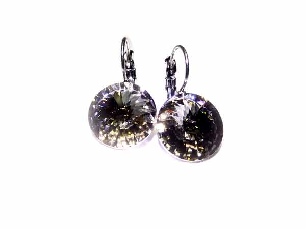 Swarovski Ohrringe crystal silver shade 14 mm