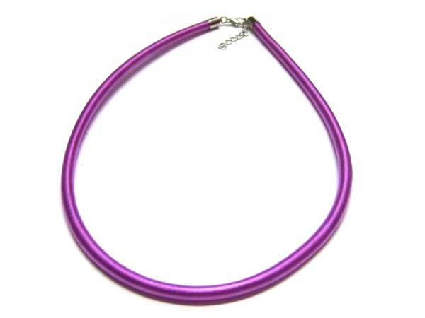 Satincollier lila 5,5 mm