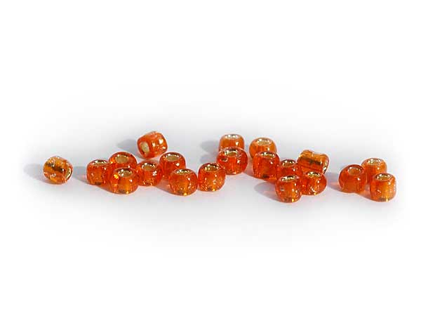 Rocailles Orange Silbereinzug 2,2 mm
