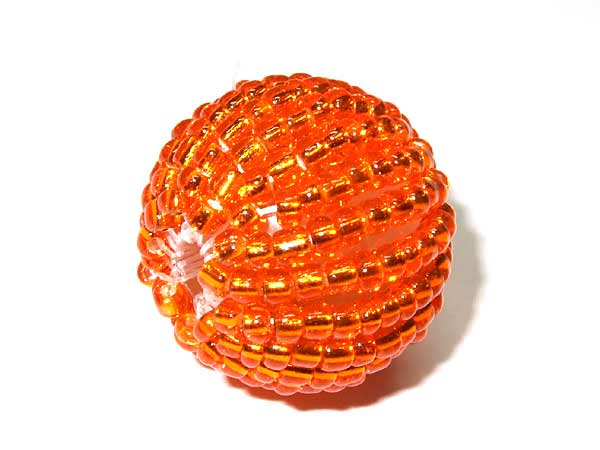 Rocailles Perle orange 15 mm
