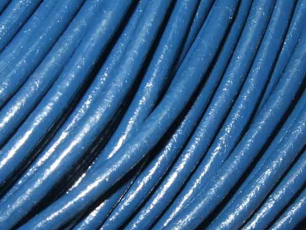 Lederband 2 mm blau