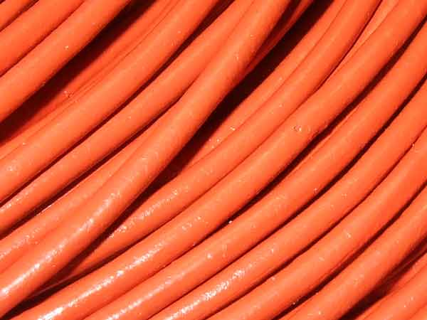 Lederband 2 mm orange