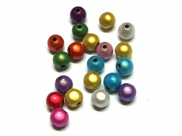 50 Stück Miracle Beads 8 mm Farbmix