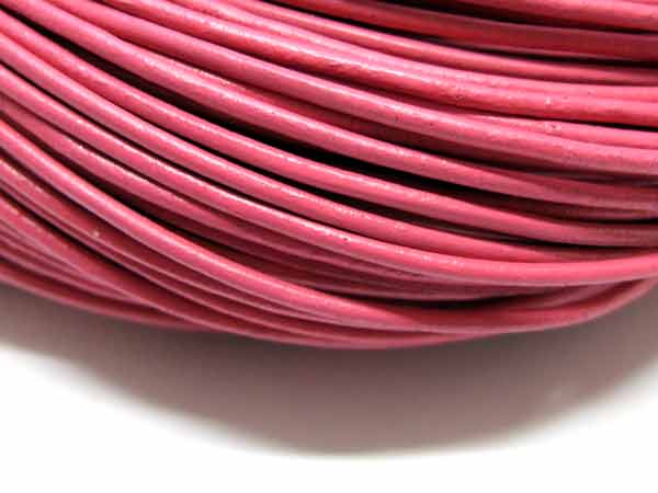 Lederband 2 mm rosa