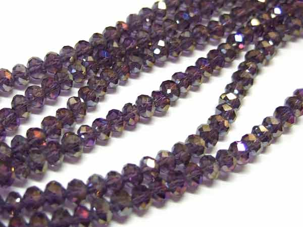 Strang facettierte Glasrondelle 4 mm Amethyst AB